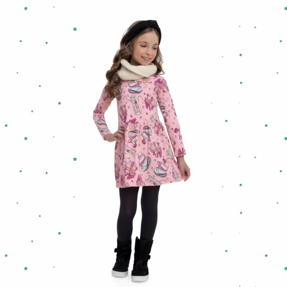 Vestido Infantil Quimby em Cotton