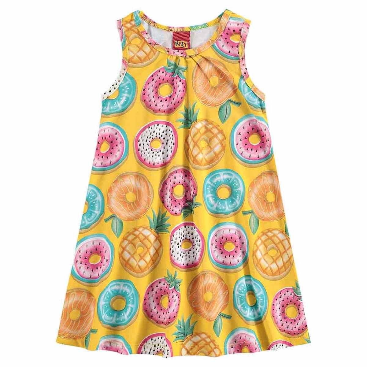 Vestido Kyly Regata em Algodão - Amarelo Carambola