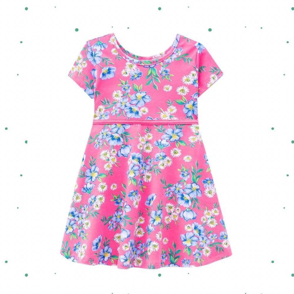 Vestido Menina Kyly em Cotton com Estampa de Flores