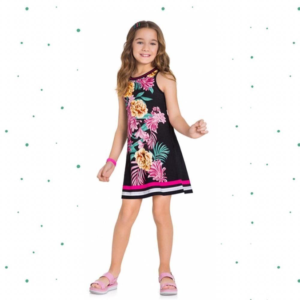 Vestido Menina Kyly Estampado em 100% Algodão