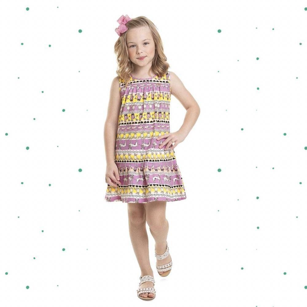Vestido Menina Quimby em Cotton