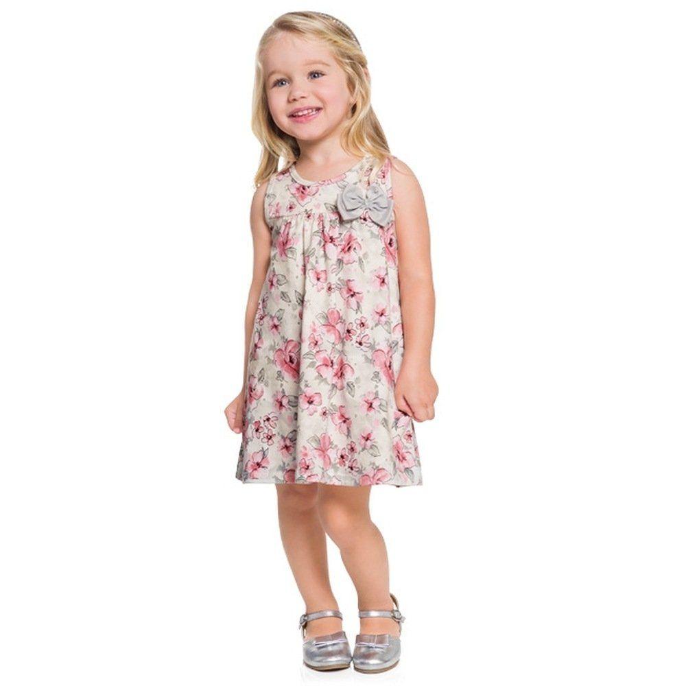 Vestido Milon em Cotton estampado na cor Rosa Soft