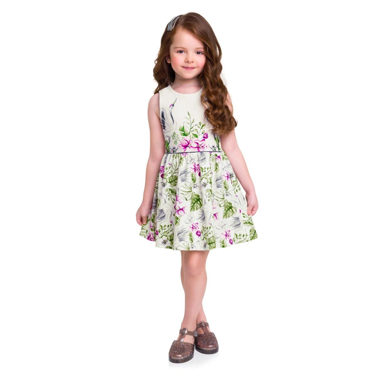 Vestido Regata Infantil Milon em Cotton