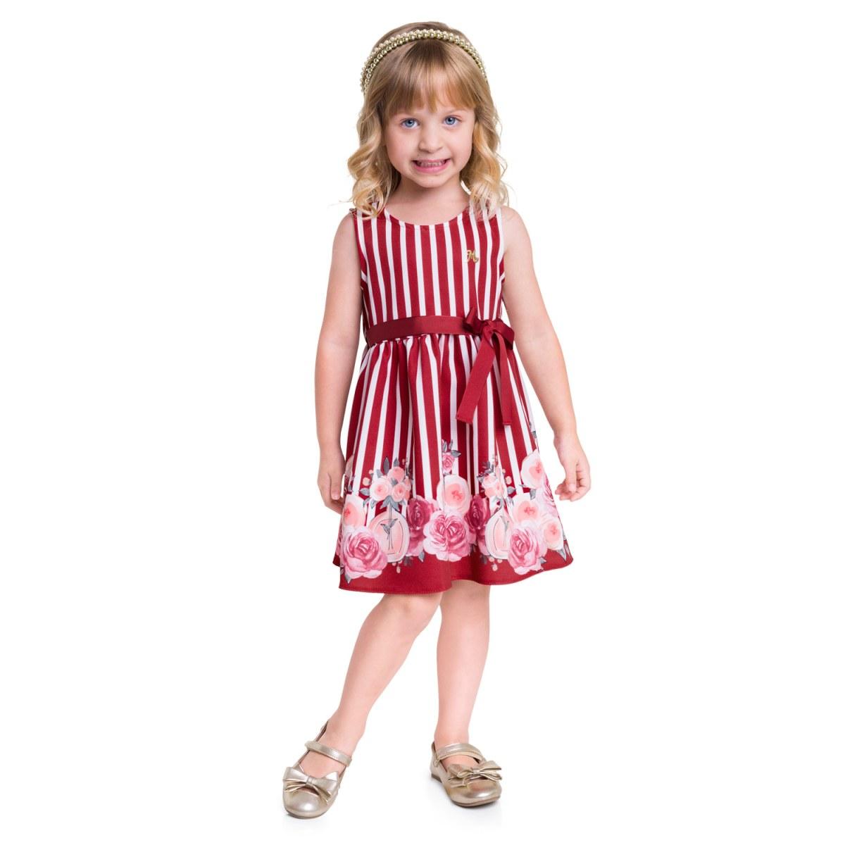 Vestido Regata Menina Milon em Alfaiataria