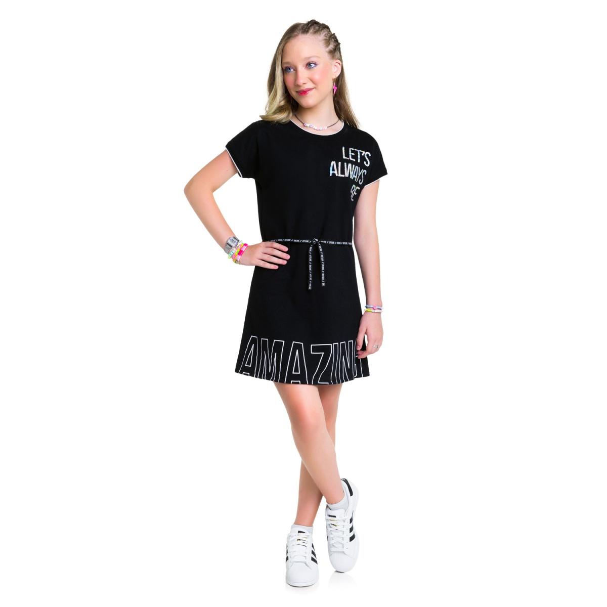 Vestido Teen Amora em Moletinho Leve