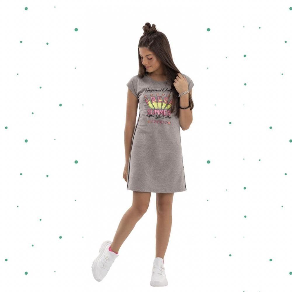 Vestido Teen Gloss em Cotton