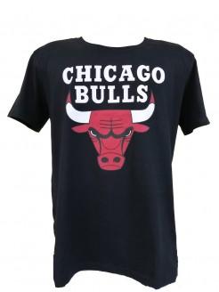 CAMISETA NBA CHICAGO BULLS  ESTAMPADA BIG LOGO PRETA