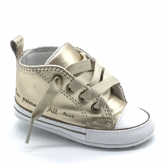 TENIS ALL STAR CHUCK TAYLOR MY FIRST ALL STAR OURO/BRANCO