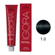 Coloração Igora Royal Cor 1.0 Preto Natural 60g.