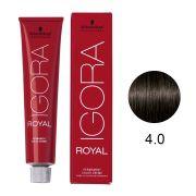 Coloração Igora Royal Cor 4.0 Castanho Médio 60g.