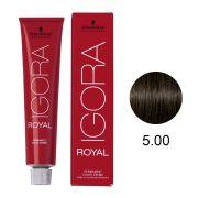 Coloração Igora Royal Cor 5.00 Castanho Claro Natural Extra 60g.