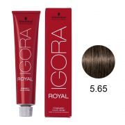 Coloração Igora Royal Cor 5.65 Castanho Claro Marrom Dourado 60g