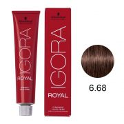 Coloração Igora Royal Cor 6.68 Louro Escuro Marrom Vermelho 60g.