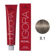 Coloração Igora Royal Cor 8.1 Louro Claro Cinza 60g.