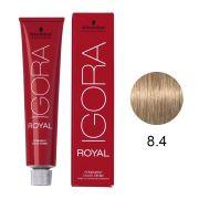 Coloração Igora Royal Cor 8.4 Louro Claro Bege 60g.