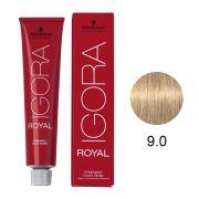 Coloração Igora Royal Cor 9.0 Louro Extra Claro Natural 60g