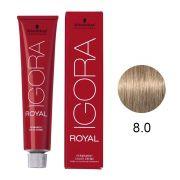 Coloração Igora RoyalCor 8.0 Louro Claro Natural 60g.