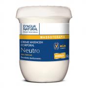 Creme De Massagem D'Agua Natural Neutro Sem Perfume 650g.