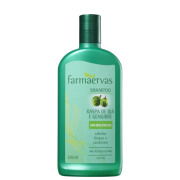 Farmaervas Raspa de Juá e Gengibre Shampoo Antirresíduo 320ml.