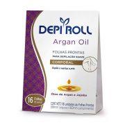 Folhas Prontas para Depilação Corporal Argan Oil Depi Roll