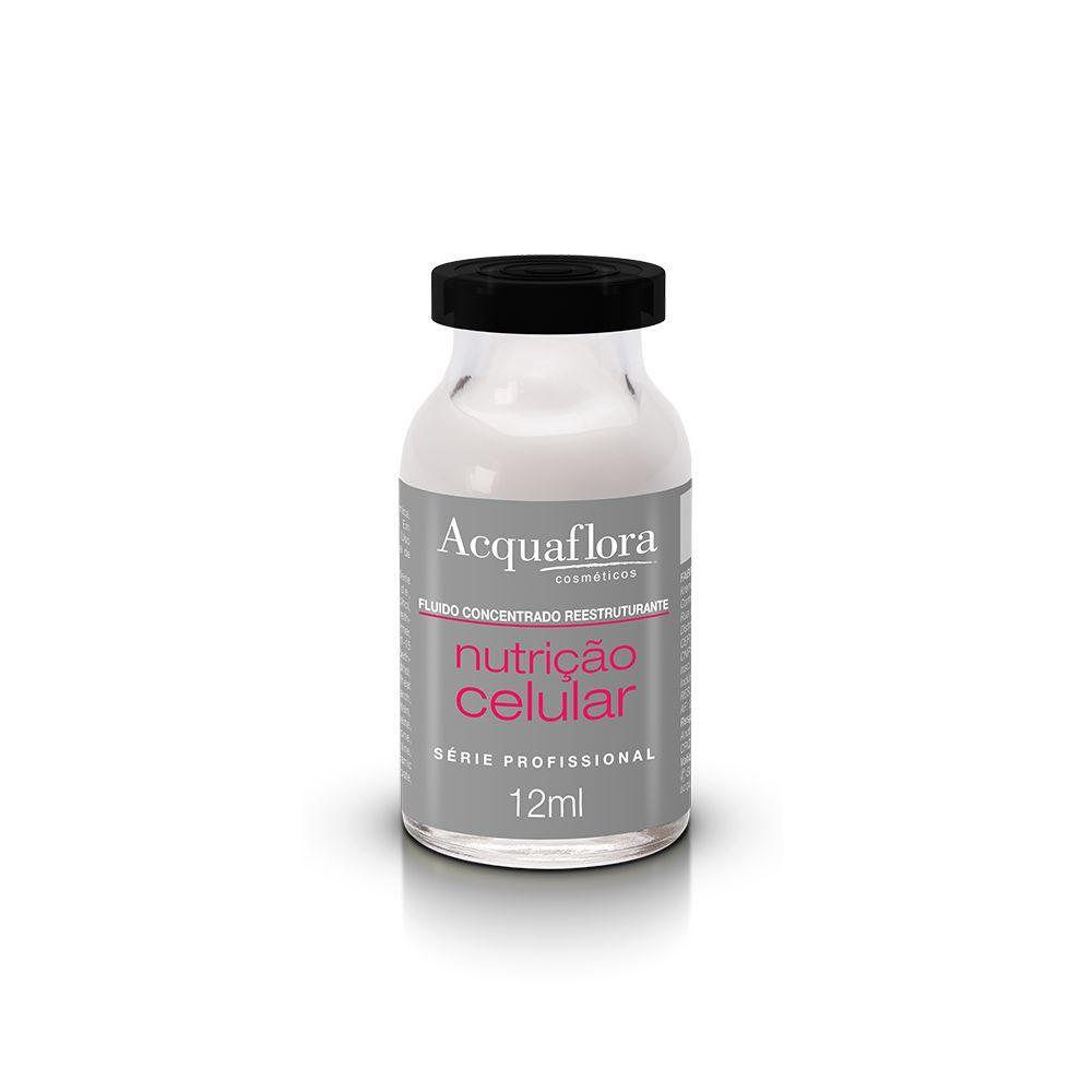 Acquaflora Fluido Concentrado Reestruturante Nutrição Celular 12ml.