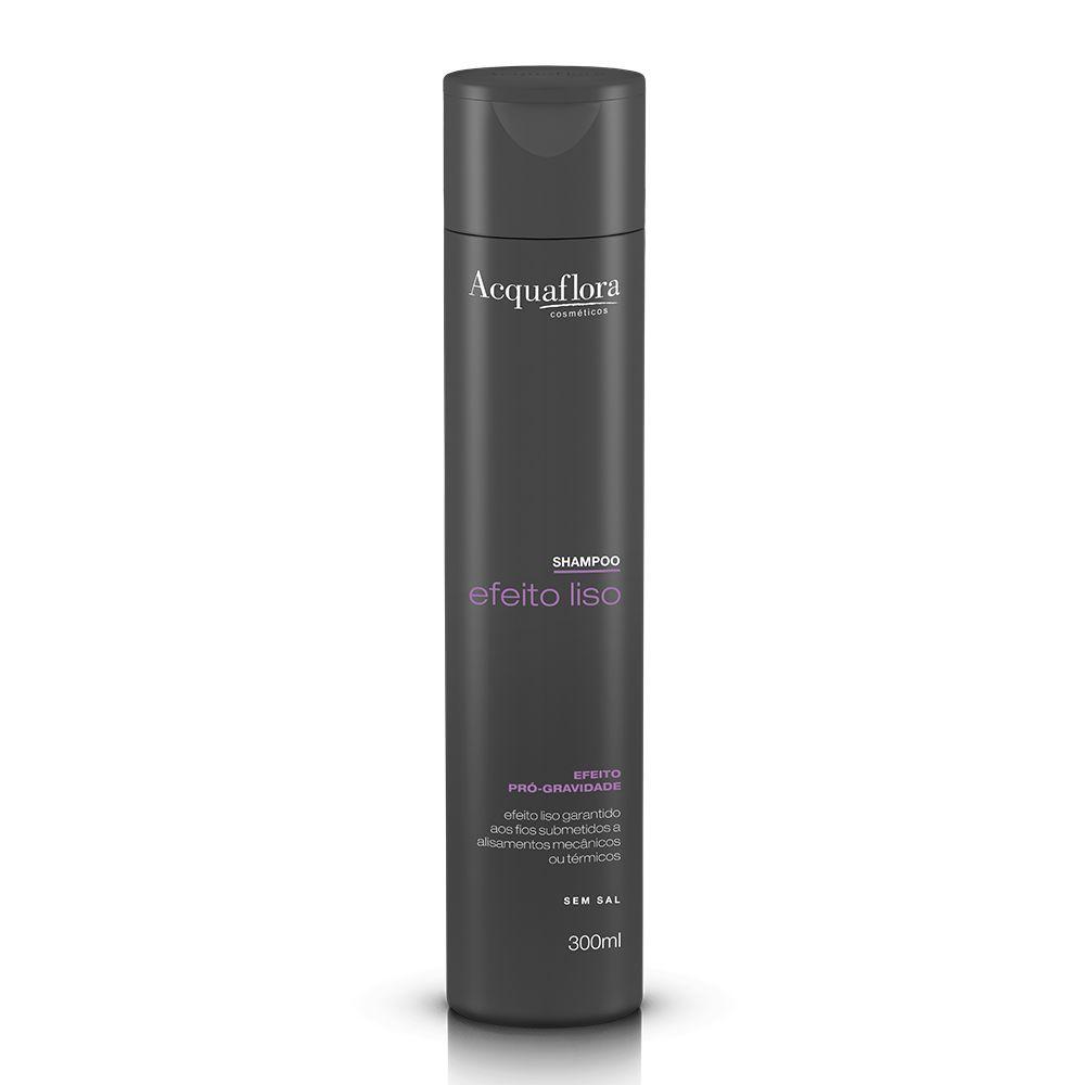Shampoo Efeito Liso Acquaflora 300ml.