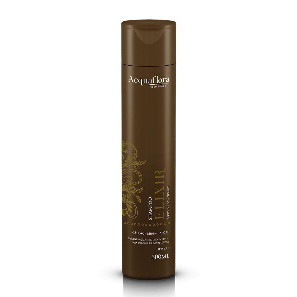Shampoo Elixir secos ou danificados Acquaflora 300ml.
