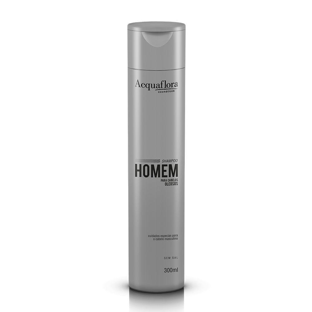 Shampoo Homem Para Cabelos Oleosos Acquaflora 300ml.