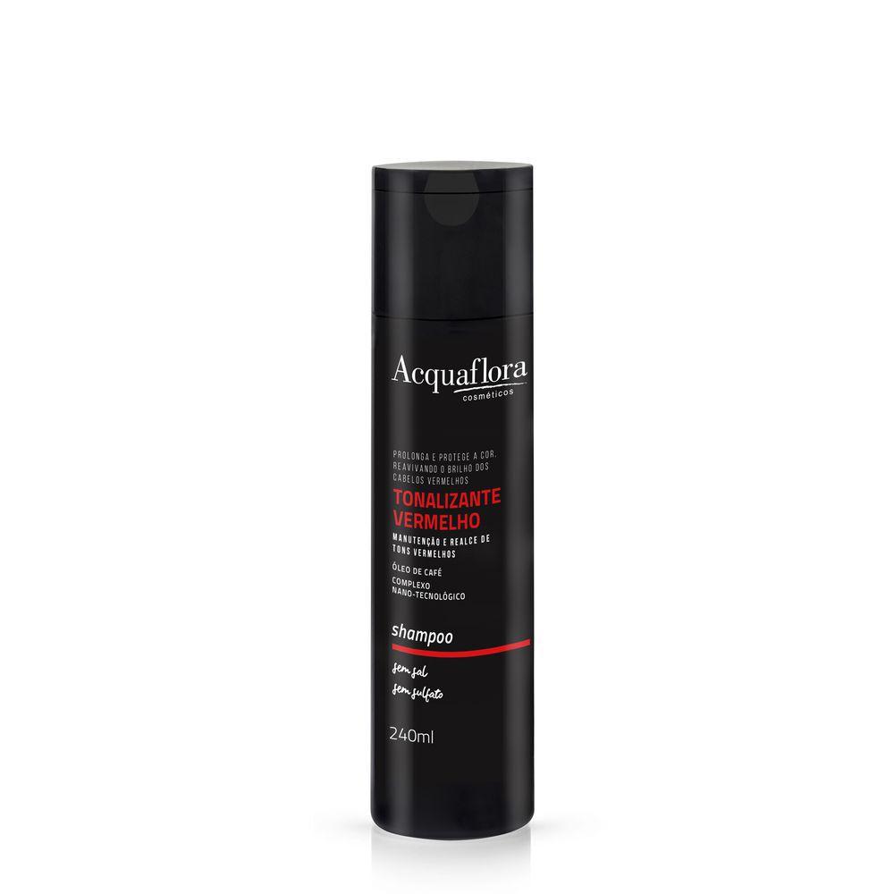 Shampoo Tonalizante Vermelho Acquaflora 240ml.