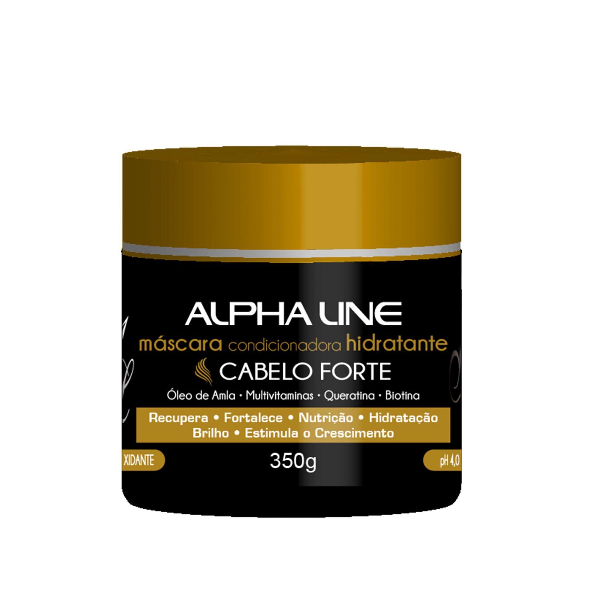 Alpha Line - Cabelo Forte Máscara 350g.