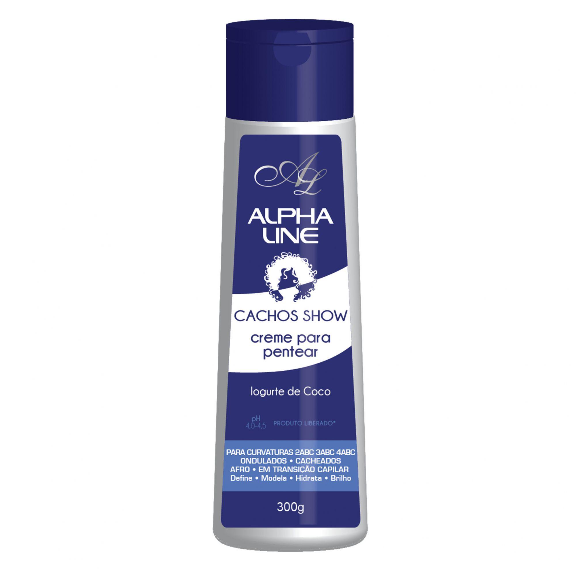 Alpha Line Creme para pentear Cachos Show Iogurte 300g.