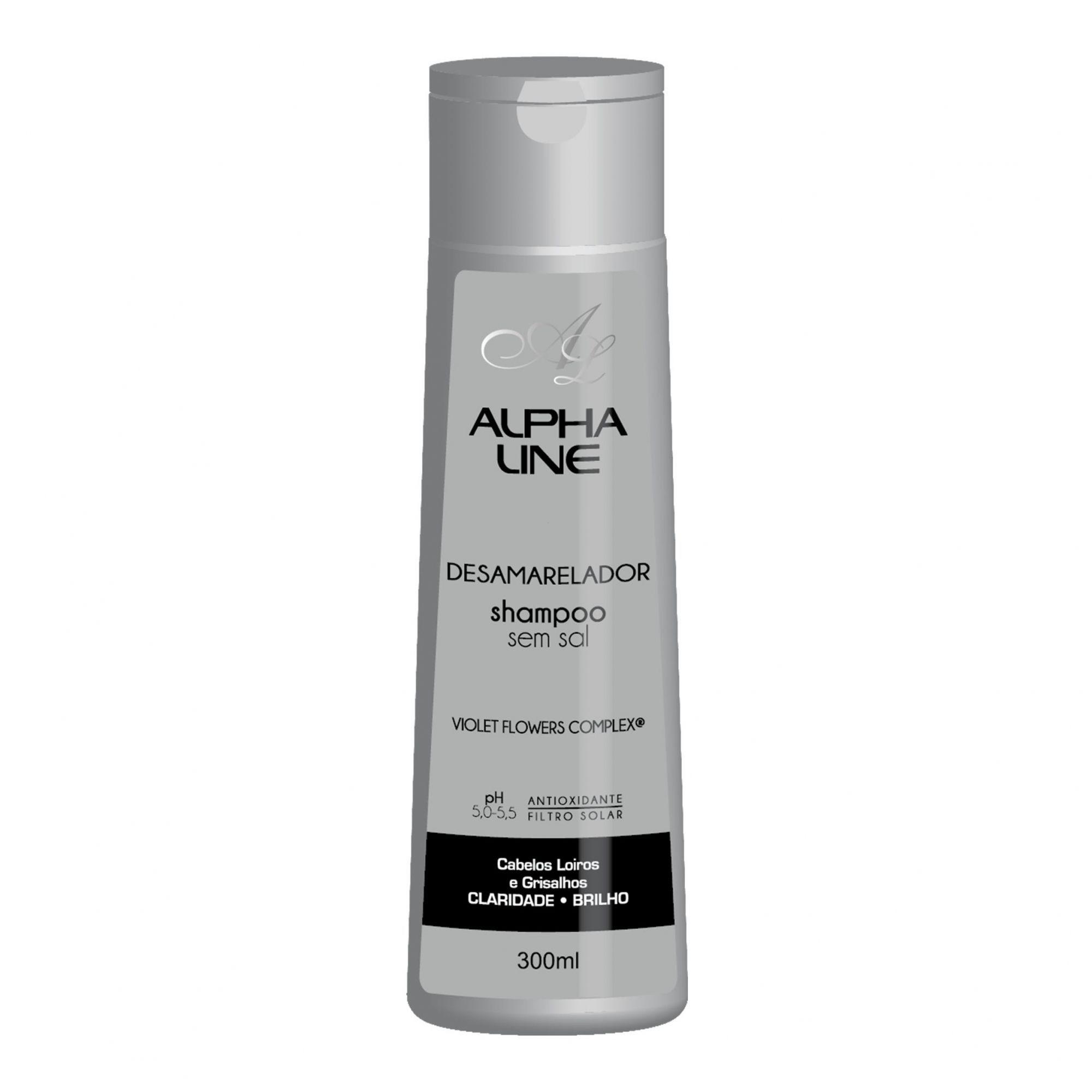 Shampoo Desamarelador  300ml Alpha Line