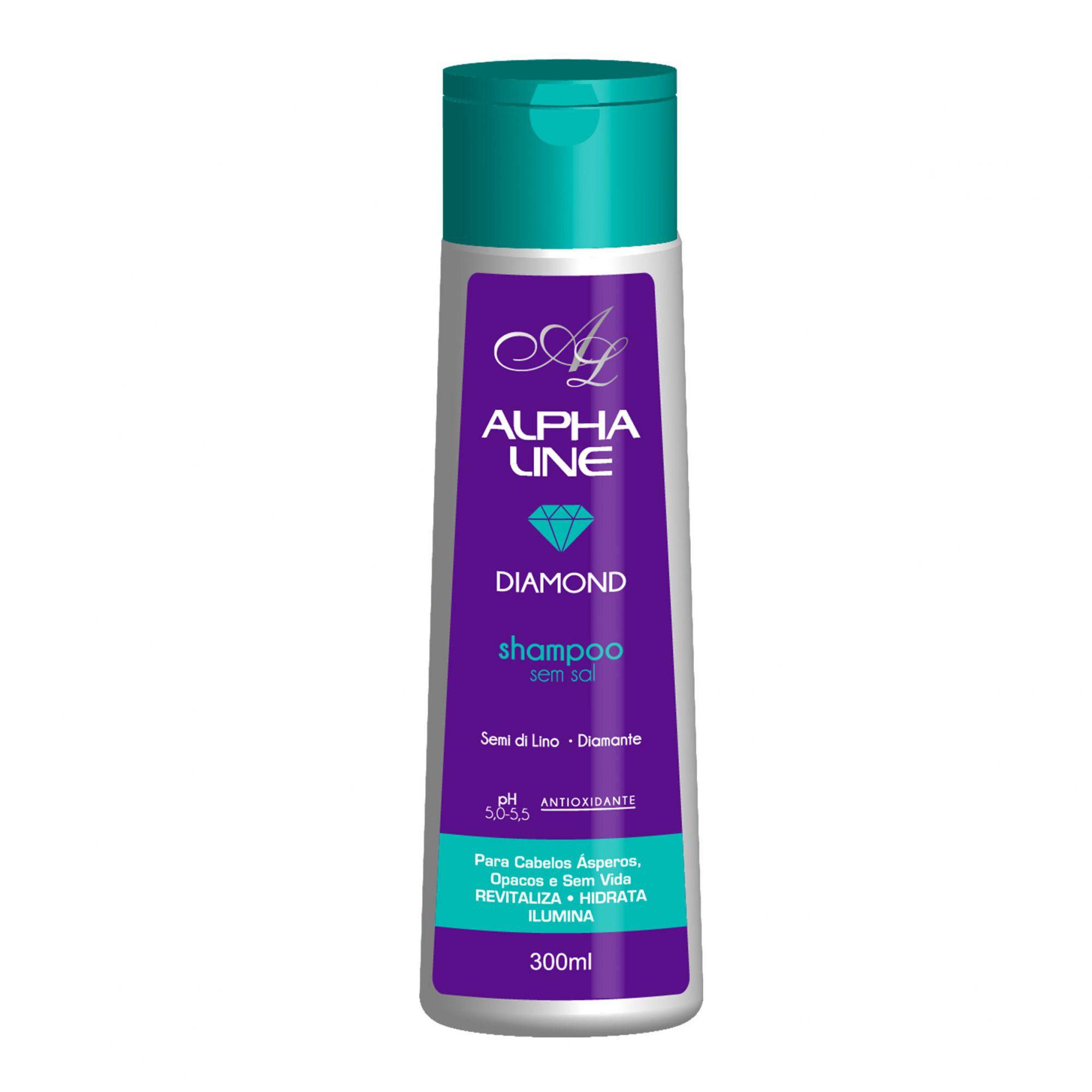 Alpha Line Shampoo Diamond  300ml.