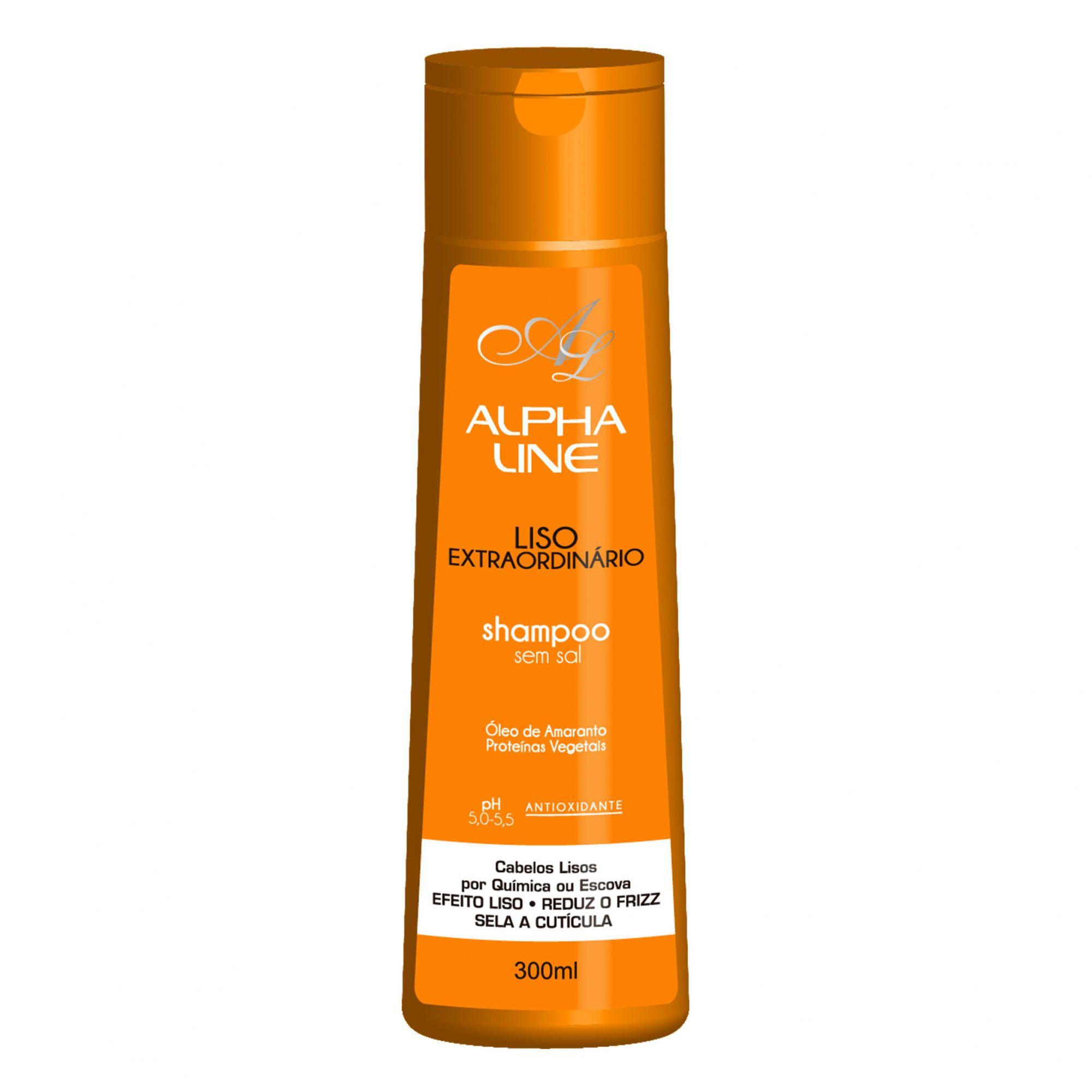 Alpha Line Shampoo Liso Extraordinário 300g.