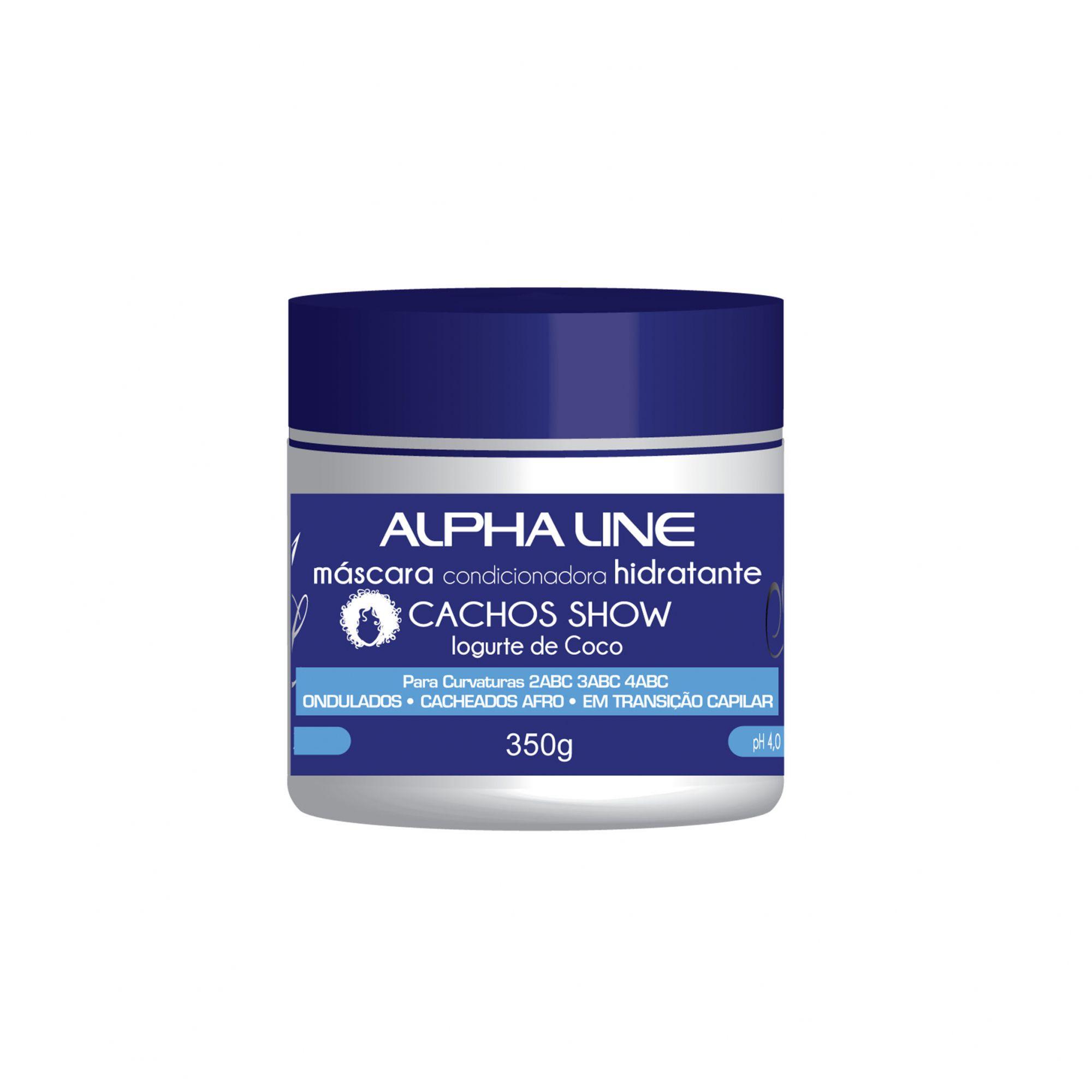 Alpha Line Máscara Cachos Show Iogurte 350g.