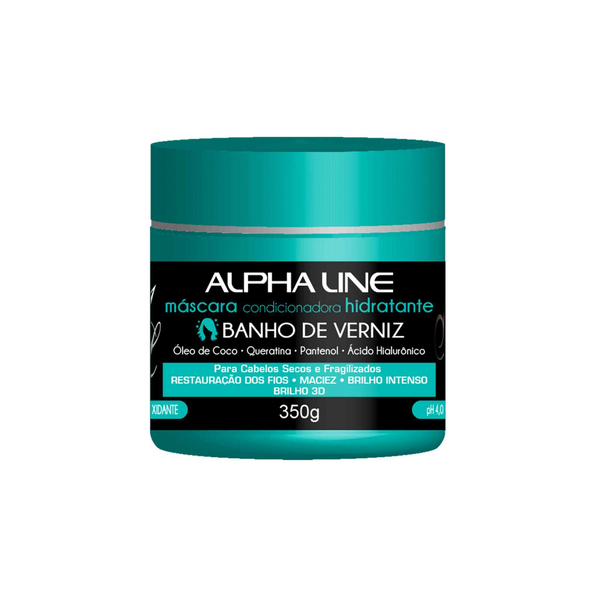 Alpha Line Máscara Condicionadora Banho de Verniz 350ml.
