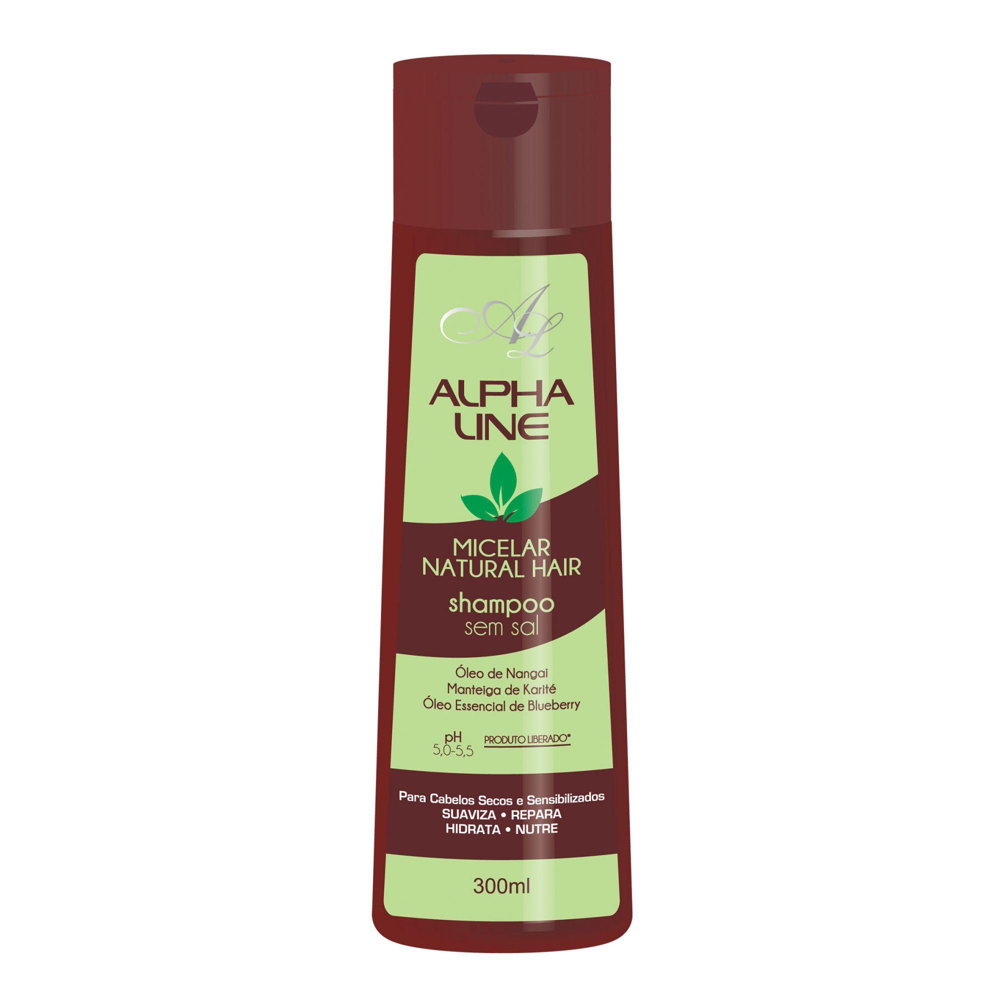 Alpha Line Micelar Natural Hair Shampoo 300g.