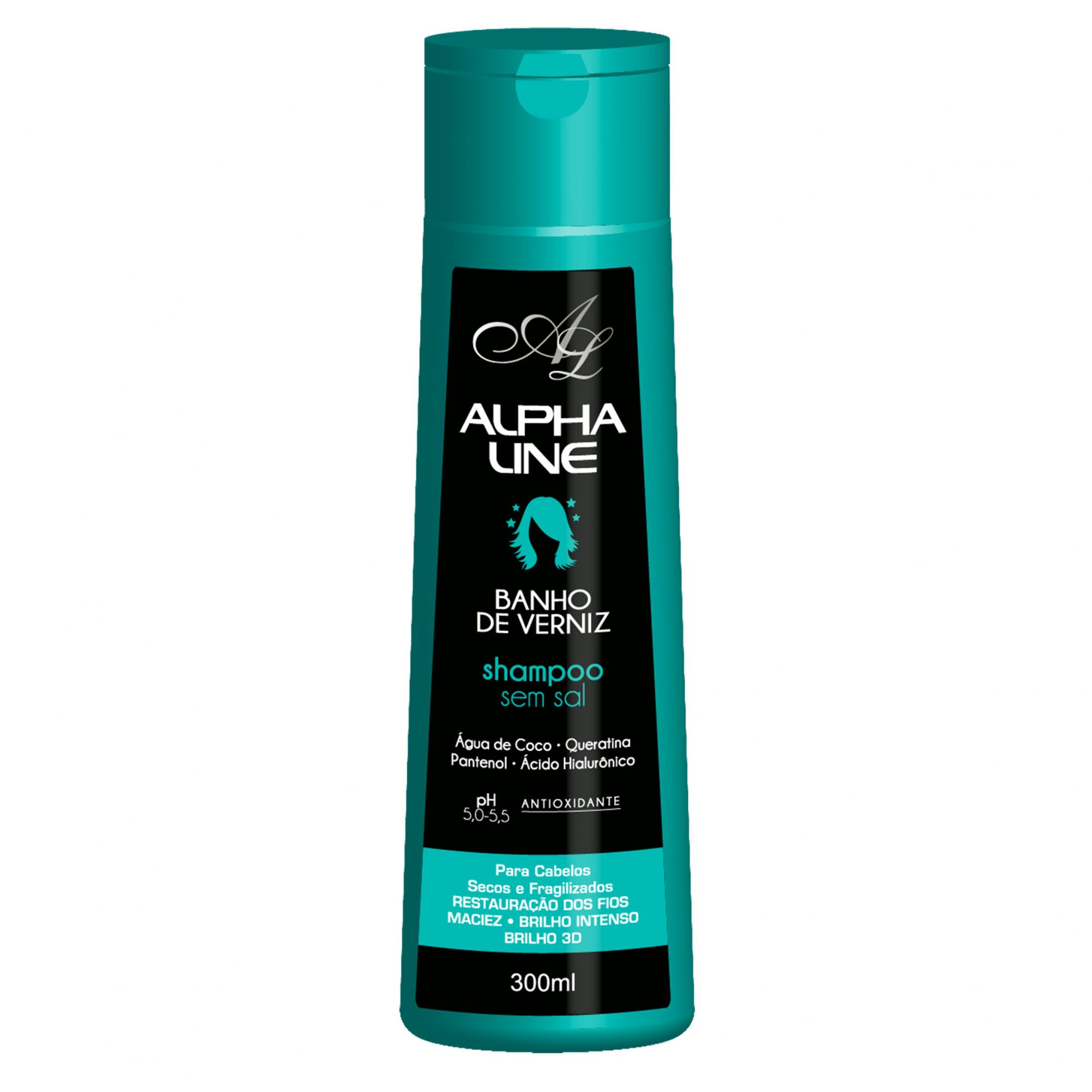 Alpha Line Shampoo Banho de Verniz 300ml.