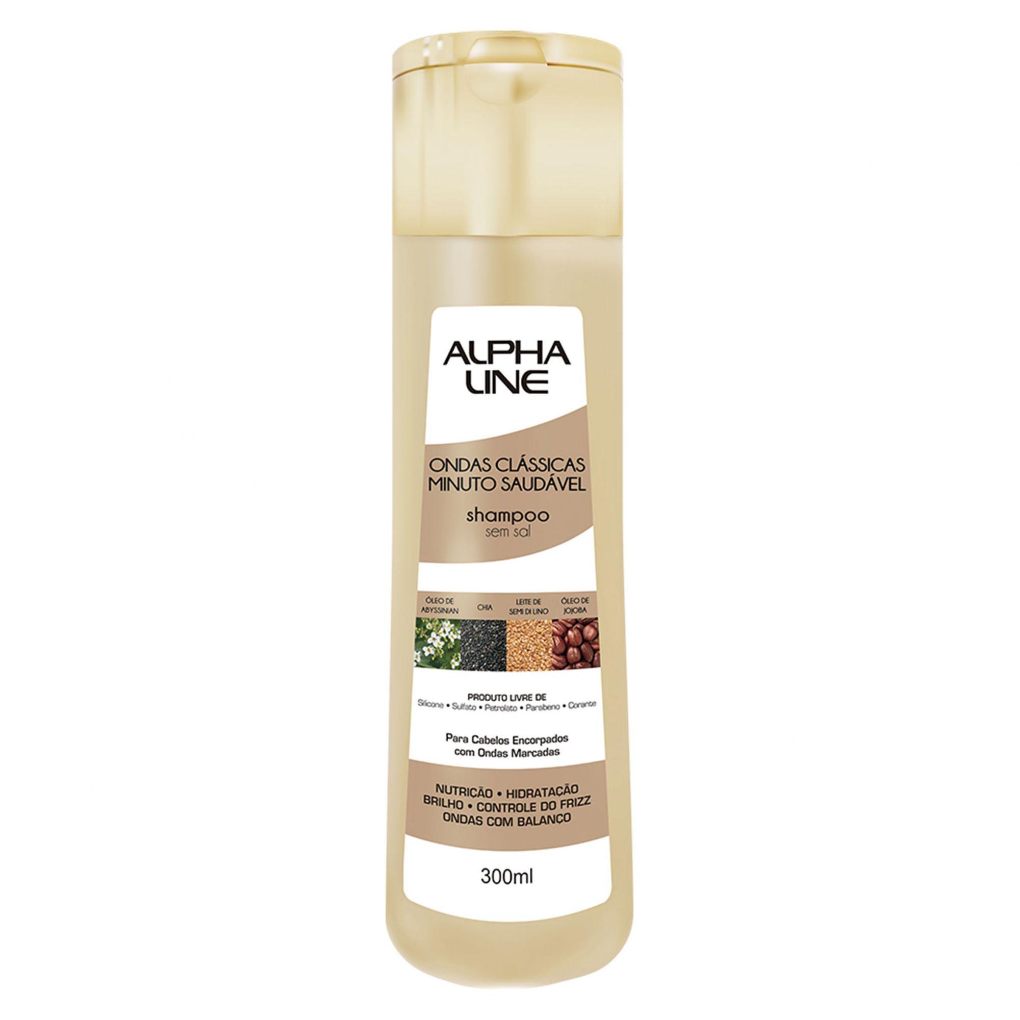 Alpha Line Shampoo Ondas Clássicas Minuto Saudável 300ml.
