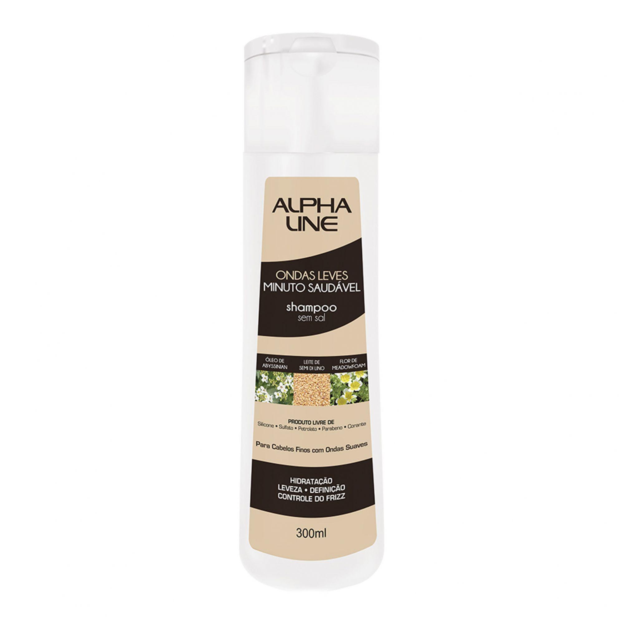 Shampoo Ondas Leves Minuto Saudável 300ml Alpha Line