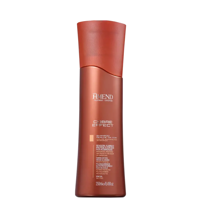 Shampoo Cobre Effect Realce da Cor 250ml Amend