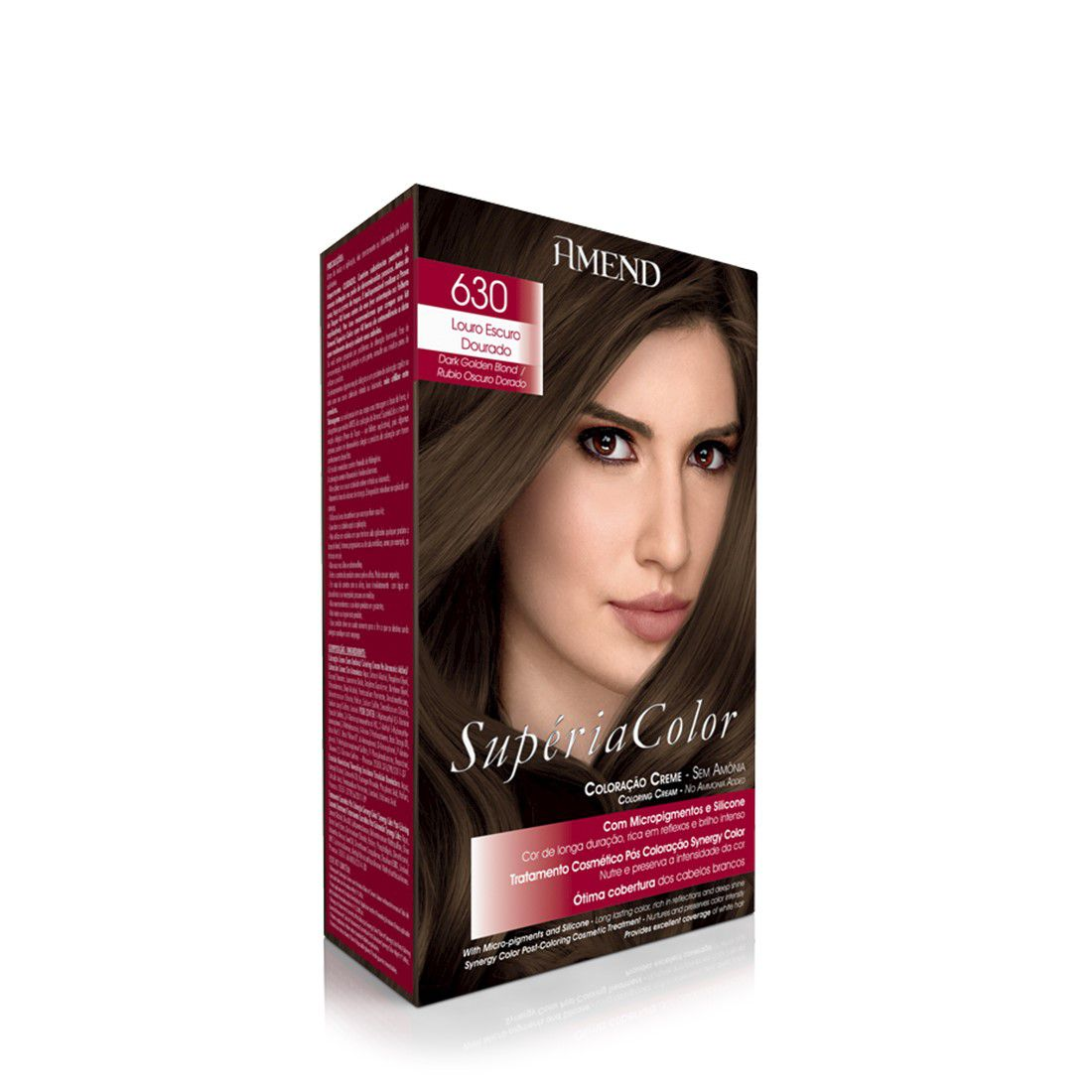 Tonalizante Supéria Color Kit 630 Louro Escuro 100g Amend