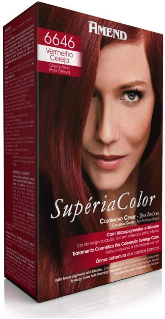 Amend Supéria Color Tonalizante Kit 6646 Vermelho Cereja 100g.