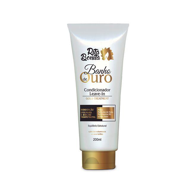 Banho de Ouro Condicionardor/Leave-in Rita Bonita 200ml Com Proteção Termica e Filtro Solar