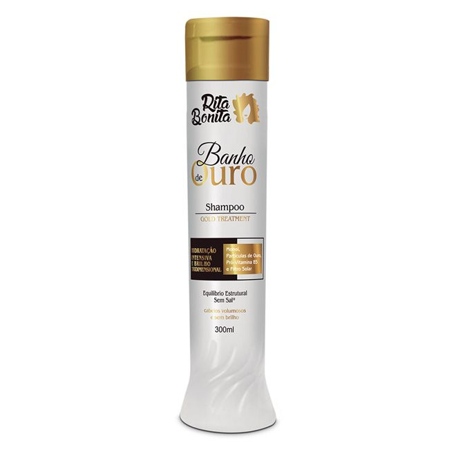 Banho de Ouro Shampoo Rita Bonita 300ml.
