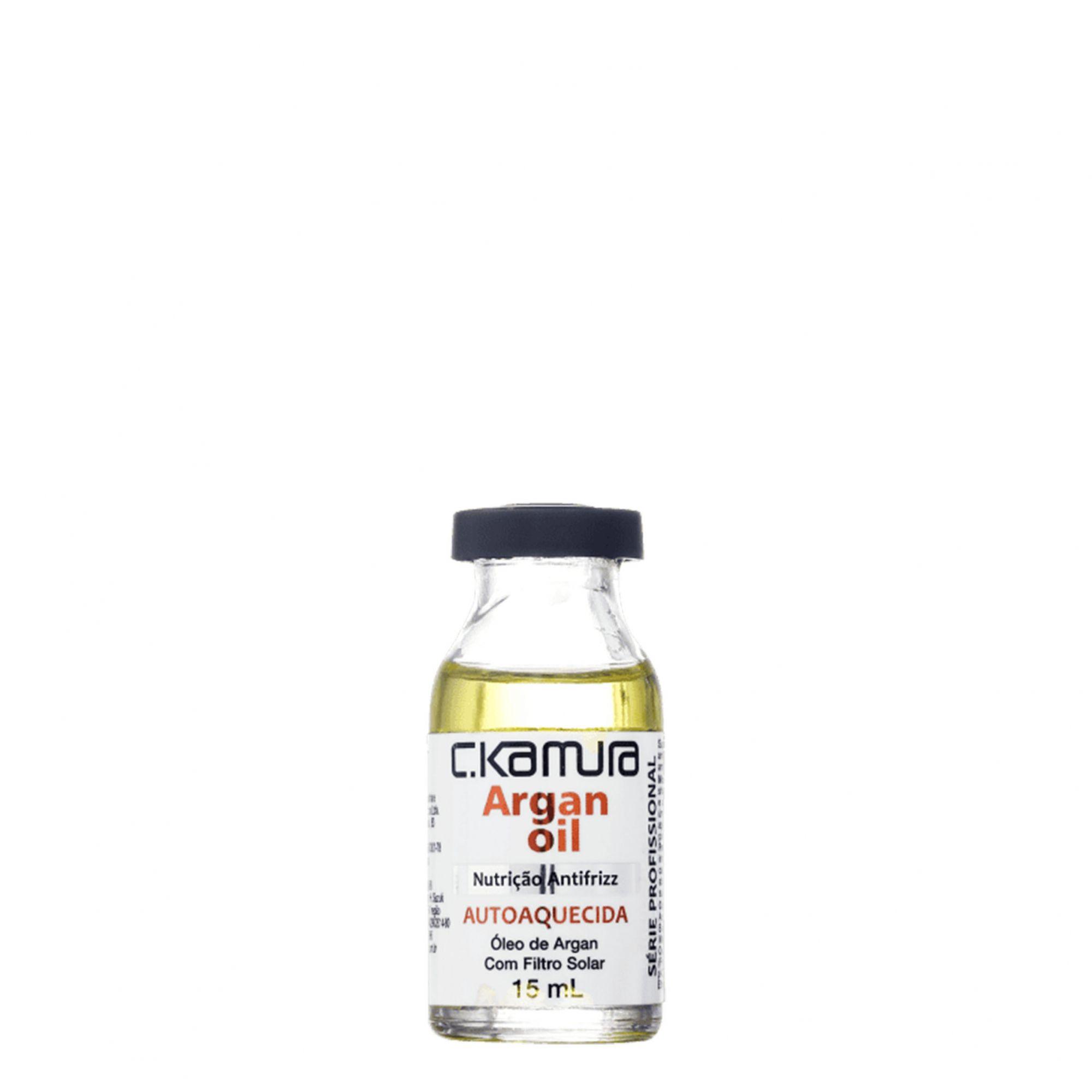 C.Kamura Argan Oil Nutrição Antifrizz Ampola de Tratamento 15ml.