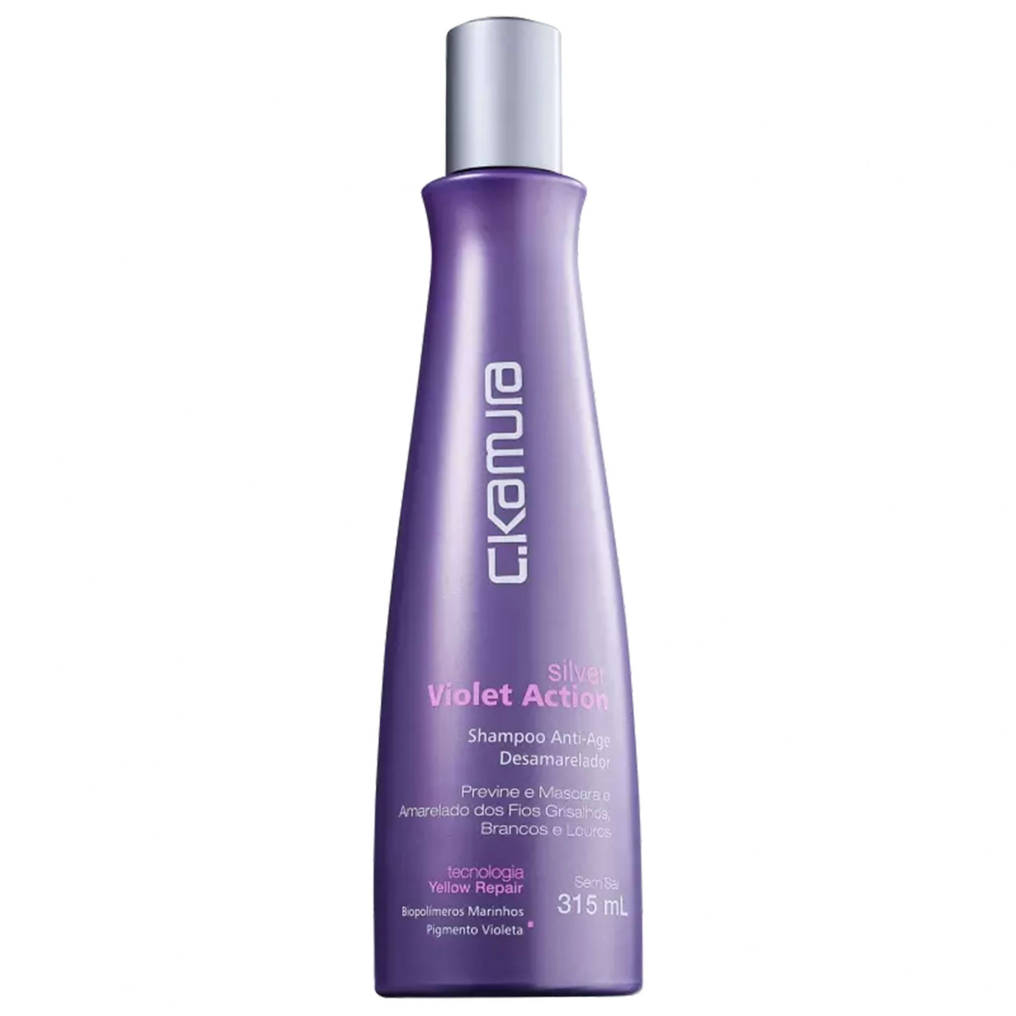 C.Kamura Silver Violet Action - Shampoo Desamarelador 315ml.