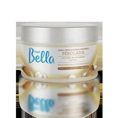 Cera Depilatória Facial Perolada Depil Bella 250g.
