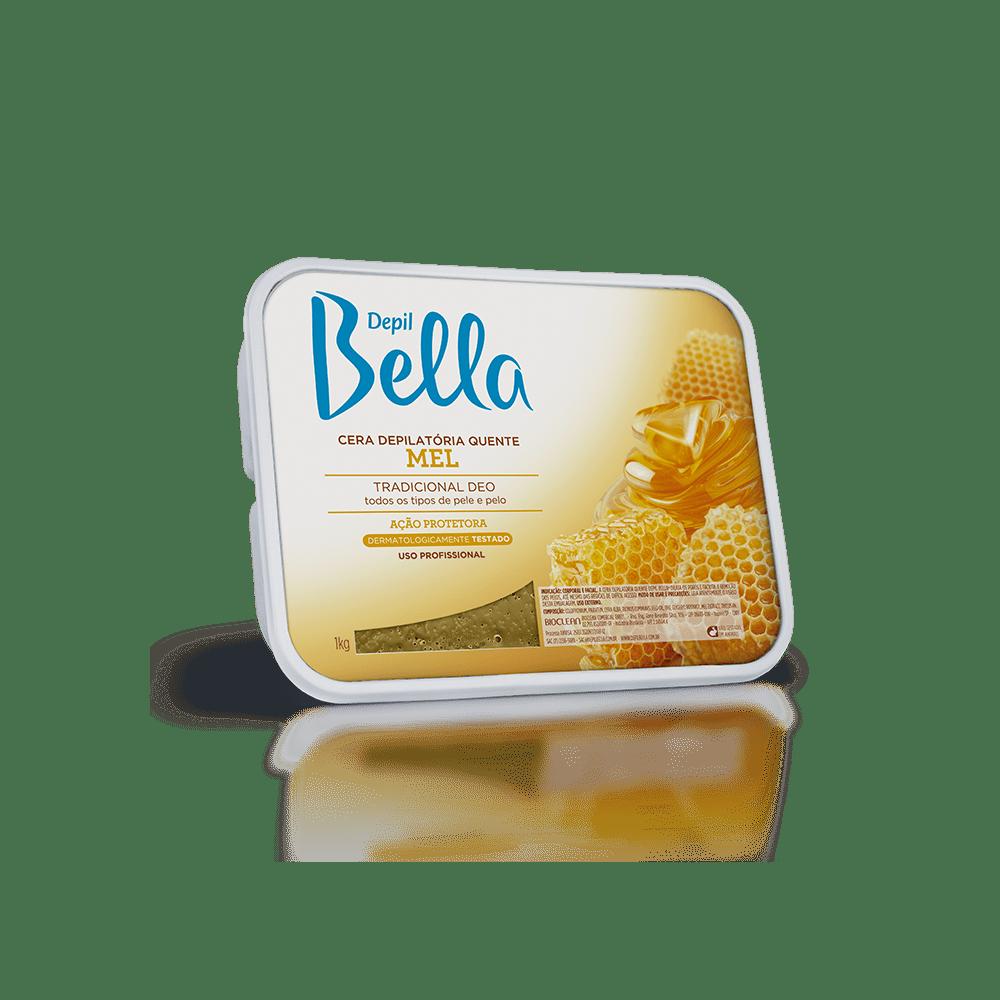 Cera Em Barra Depil Bella Quente Mel de Abelhas 1kg.