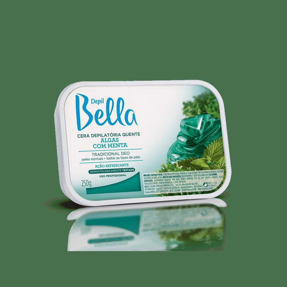 Cera Quente Depil Bella Algas Com Menta 250g.